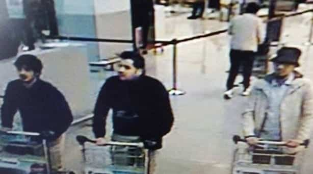 Belgian police release image of suspected airport attackers