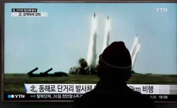 N. Korea Fires 5 Missiles Into the Sea