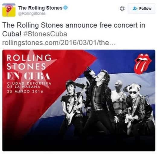 The Rolling Stones To Play Free Gig In Havana Cuba [VIDEO